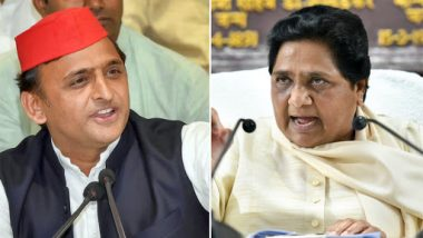 Lok Sabha Elections 2019 Opinion Poll: SP-BSP-RLD Gathbandhan to Sweep Uttar Pradesh With 58 Seats, Says Mood of The Nation Survey